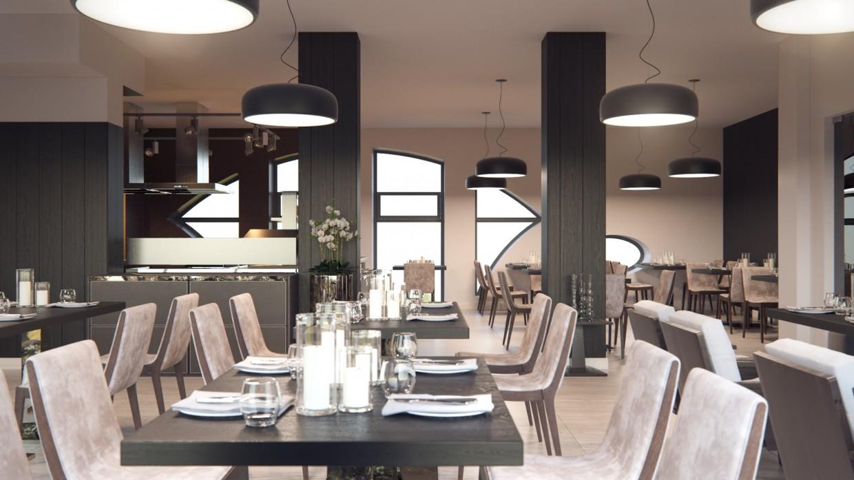 Ресторан в 3d max corona render изображение