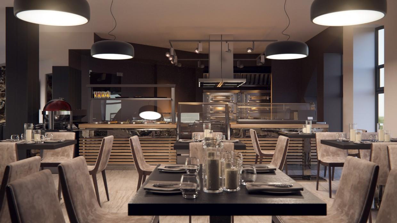 ресторан в 3d max corona render зображення