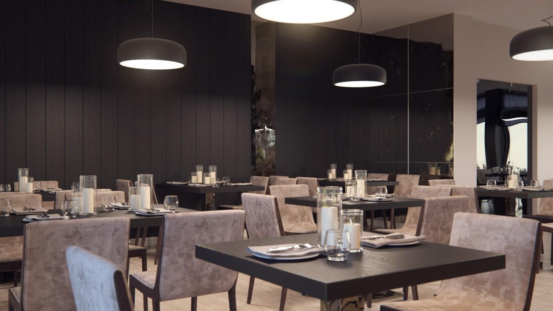 Restaurant in 3d max corona render image