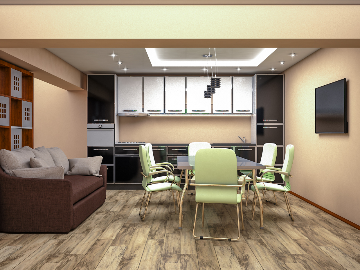 3d visualization of the project in the Kitchen 3d max, render vray 3.0 of Sharifjon Olimov