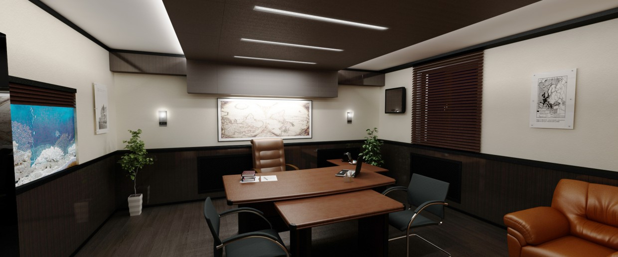 office room in 3d max vray image
