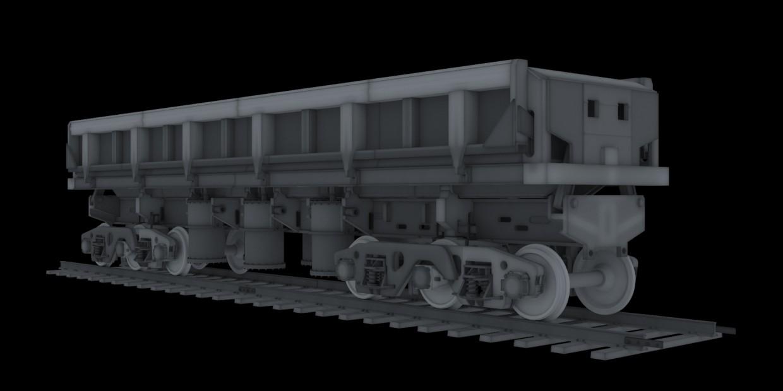 Dumpcar model-2vs for 3D printer in 3d max vray image