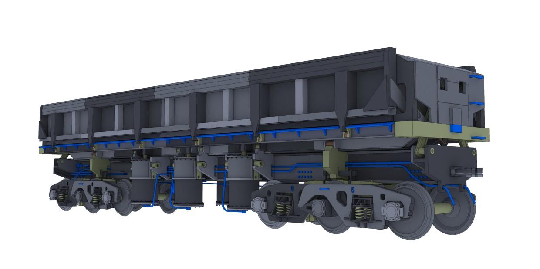 imagen de Dumpcar modelo-2vs para impresora 3D en 3d max vray