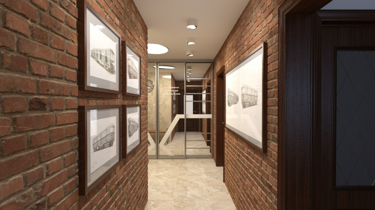 Corridor in Moscow apartment  in  3d max   vray 2.5  image