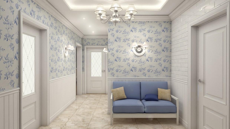 Коридор в московской квартире в 3d max vray 2.5 изображение