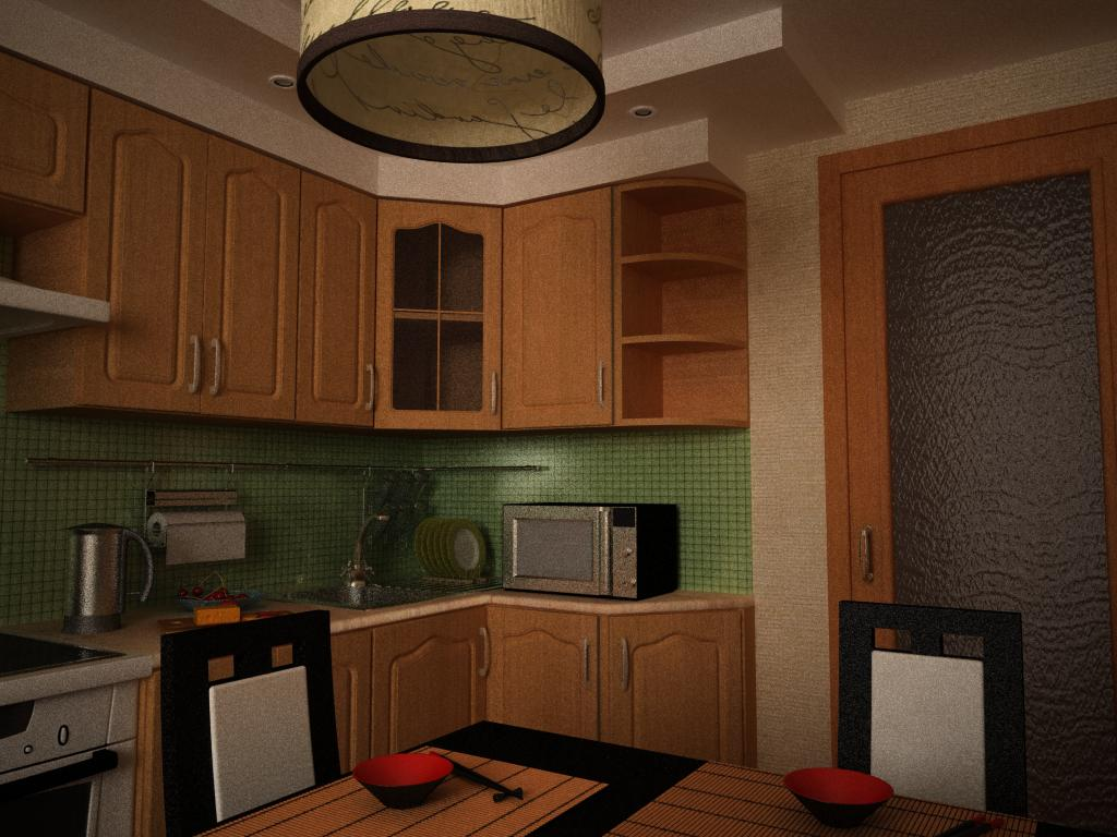 Kitchen in 3d max vray 1.5 image
