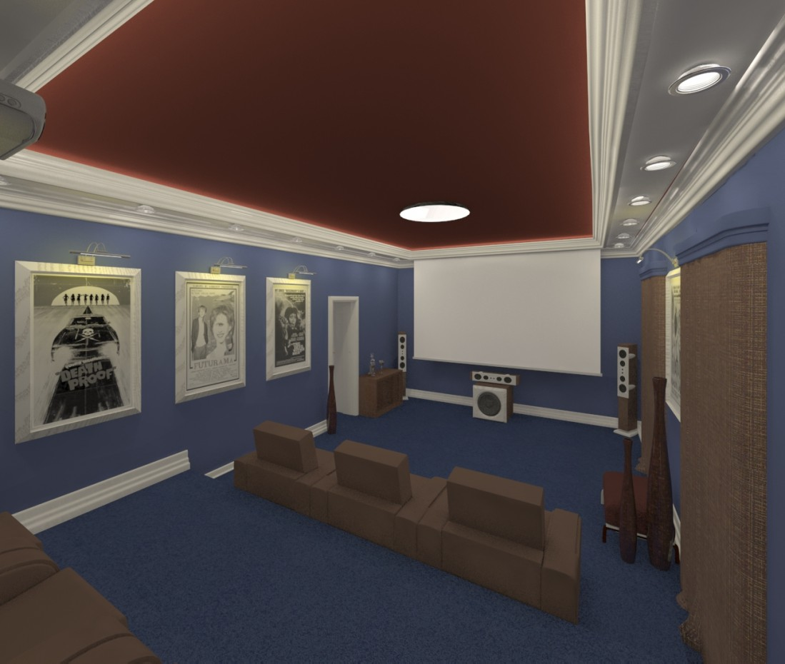 Home cinema  in  3d max   vray  image