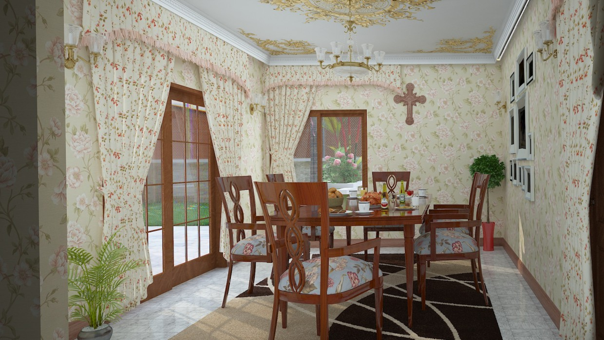 Dinning room in 3d max vray 3.0 image