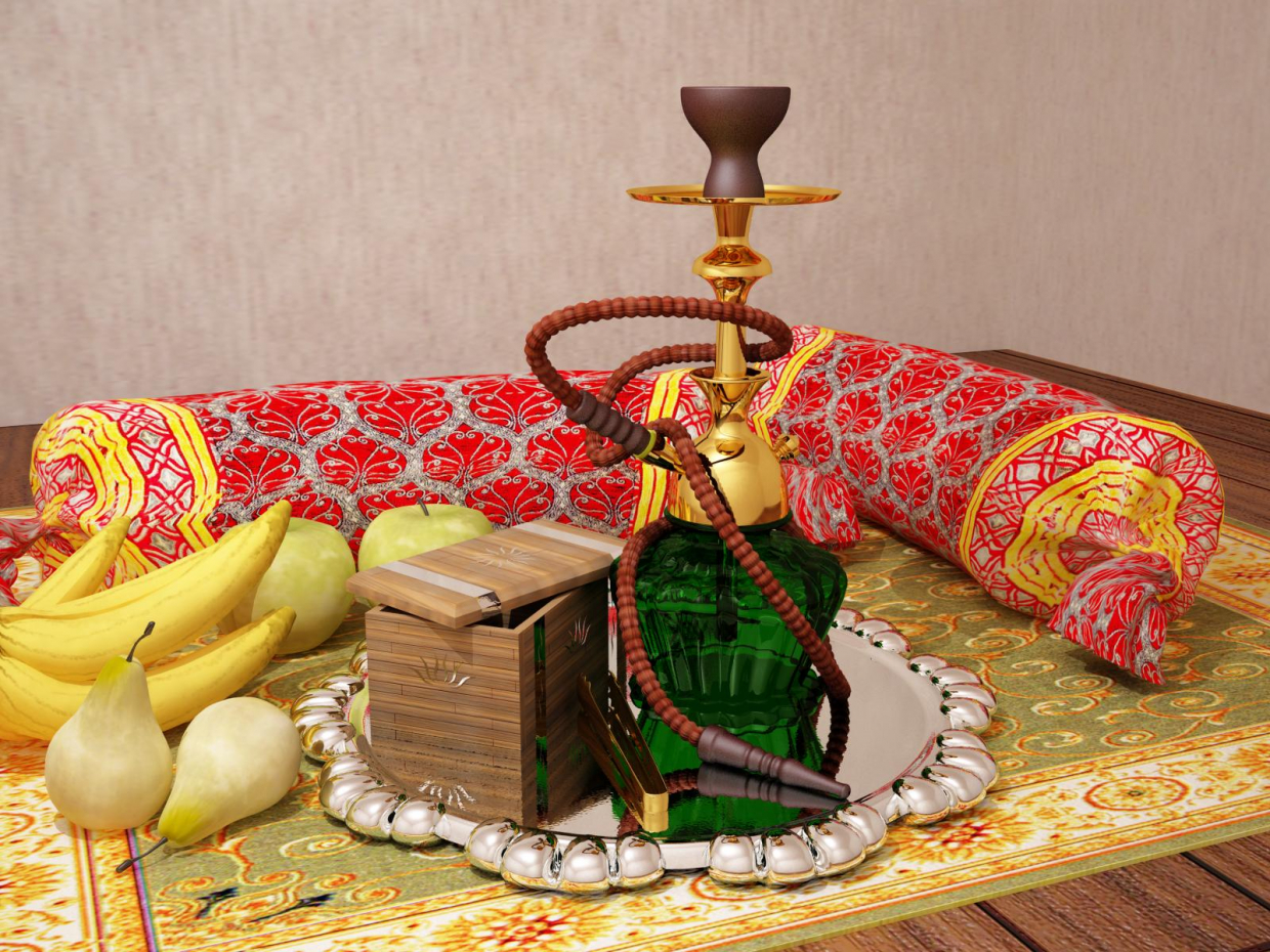 3d visualization of the project in the Hookah 3d max, render vray 1.5 of Скоробогатов Егор