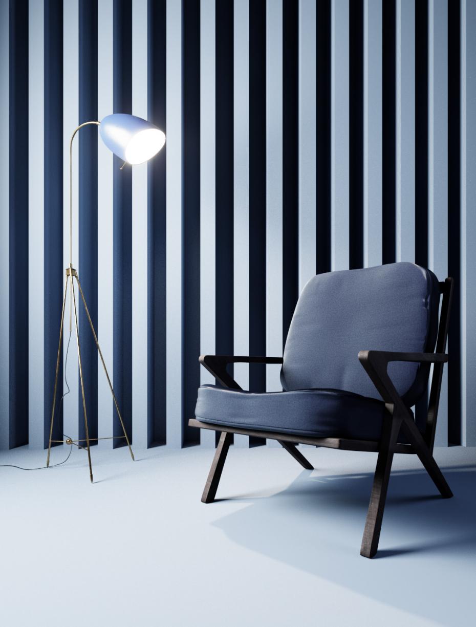 Simple interior in 3d max corona render image