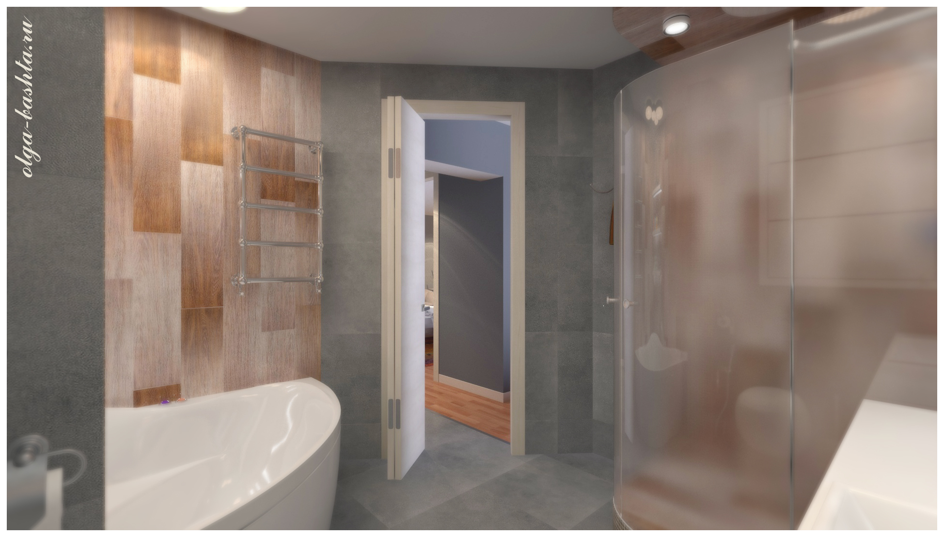 Bathroom area of 8 square meters. m in 3d max vray 3.0 image