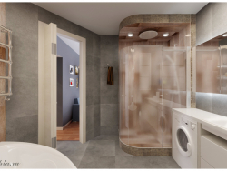 Bathroom area of ​​8 square meters. m