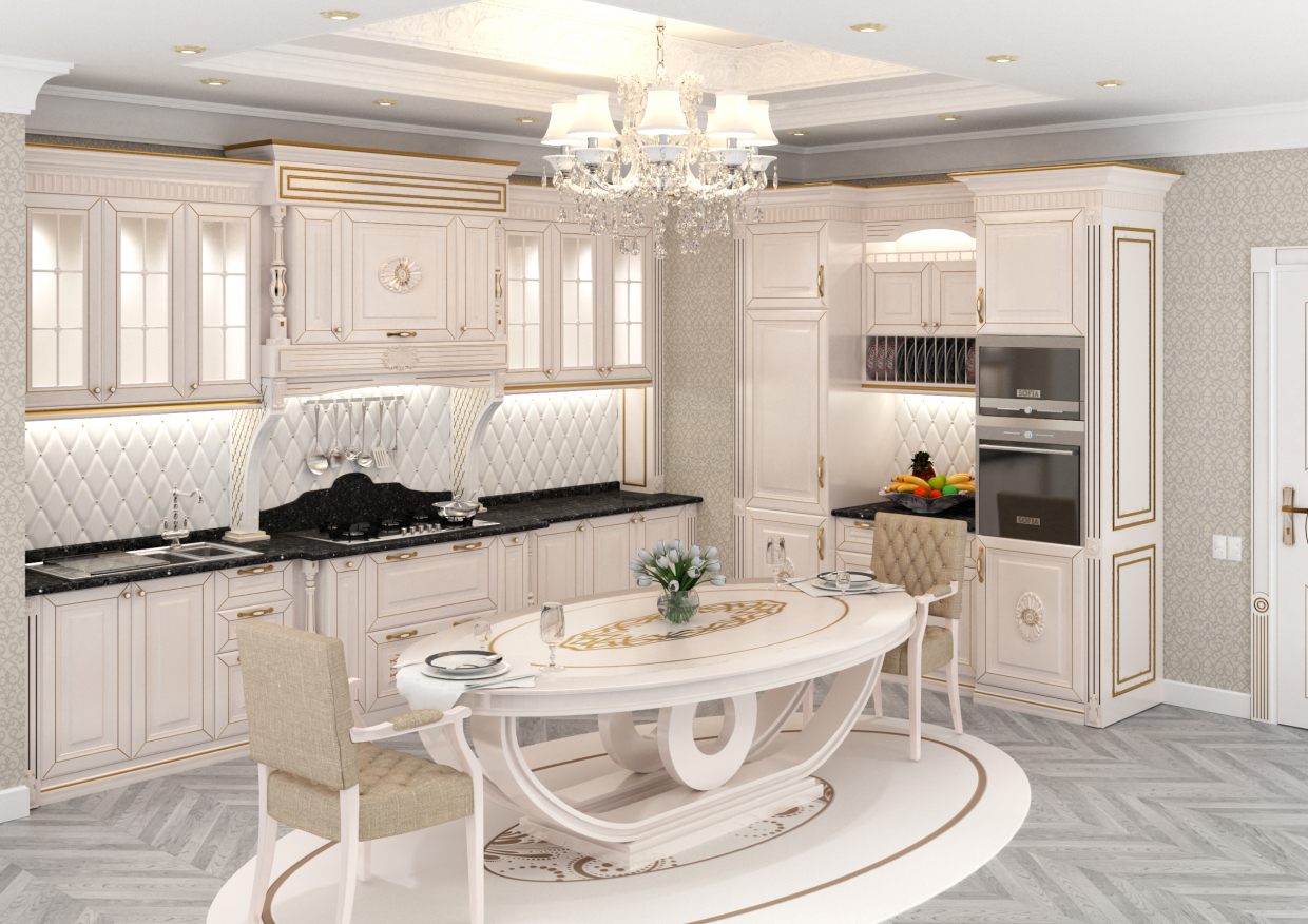 Ardeco Kitchen in 3d max vray 3.0 image
