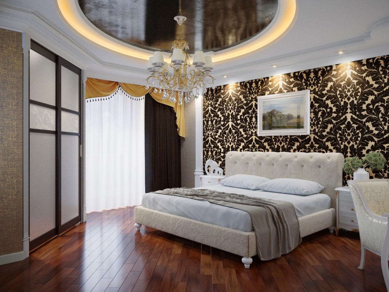 Schlafzimmer in 3d max corona render Bild