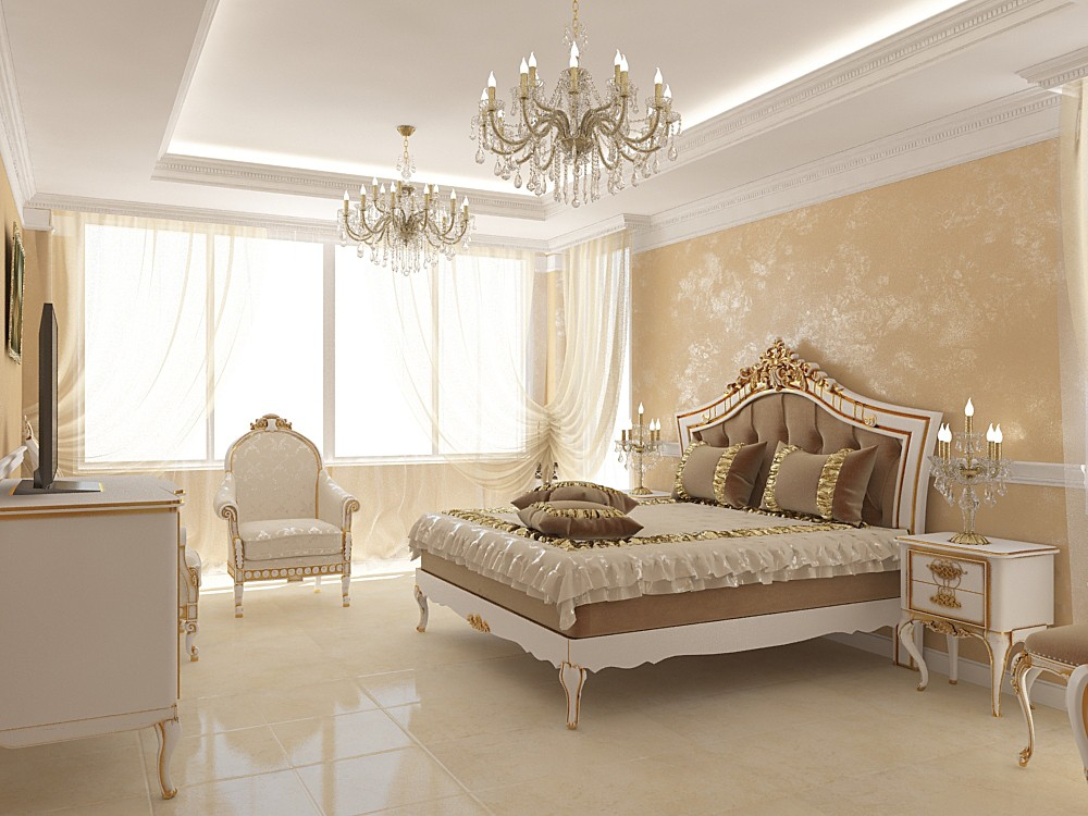 Спальня в 3d max vray зображення
