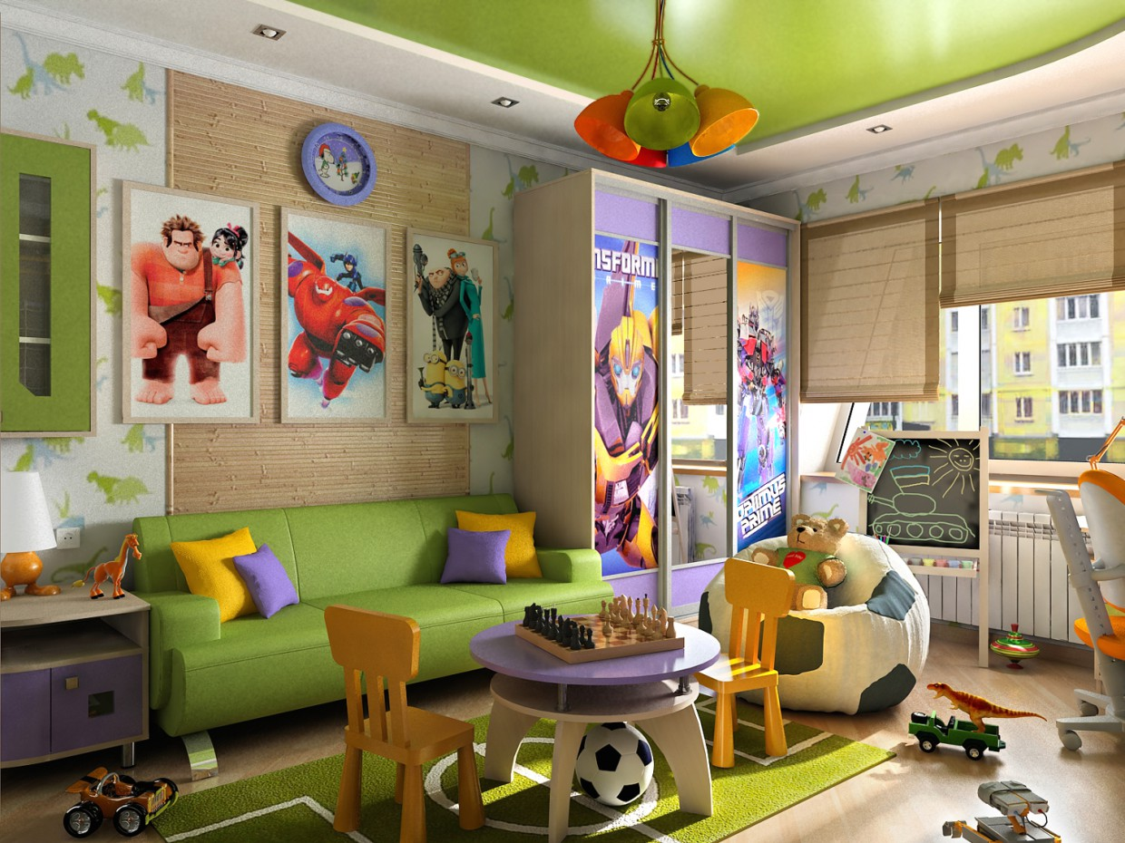 3d visualization of the project in the Interior design children's for boy in Chernigov 3d max, render vray 1.5 of OLEG