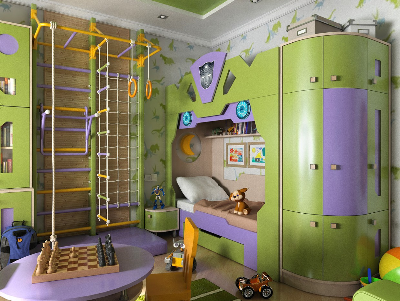 Дизайн інтер'єру Дитяча для хлопчика в Чернігові в 3d max vray 1.5 зображення