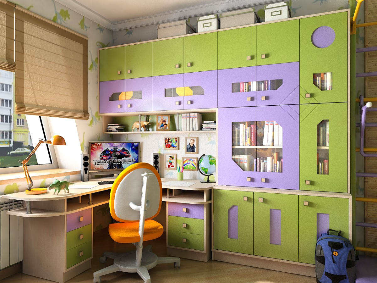 Interior design children's for boy in Chernigov in 3d max vray 1.5 image