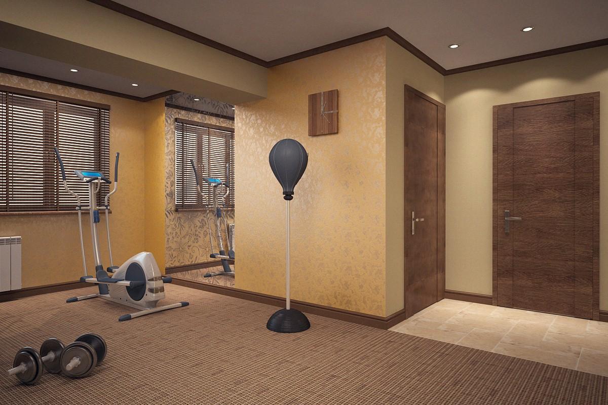 спортзал в 3d max vray зображення