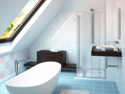 Design and visualization of two bathrooms