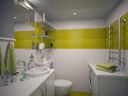 unidad de baño incluyendo el inodoro