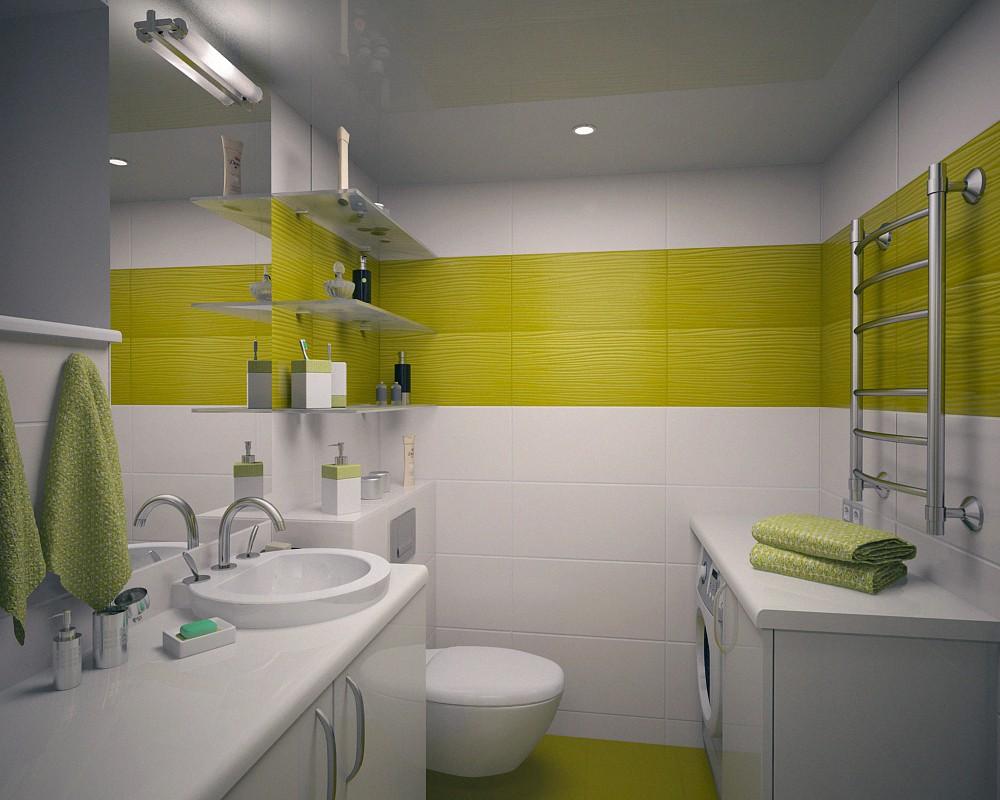 visualización 3D del proyecto en el unidad de baño incluyendo el inodoro 3d max render vray M@luw