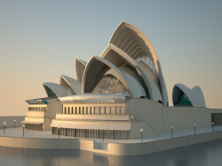 3 डी मॉडलिंग सिडनी ओपेरा हाउस