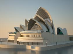 Modelado 3D Ópera de Sydney
