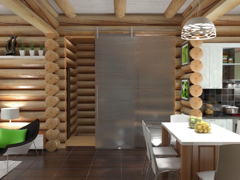 Maison en bois dans 3d max vray image