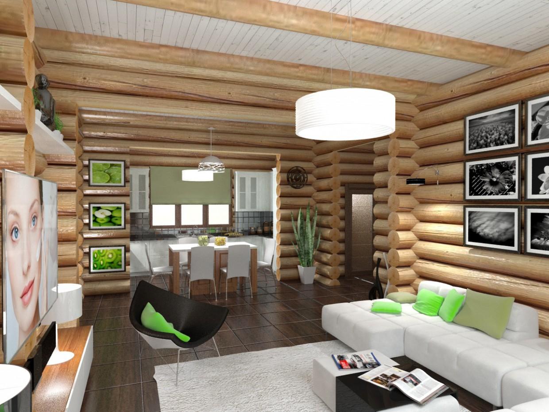 Дерев'яний будинок в 3d max vray зображення