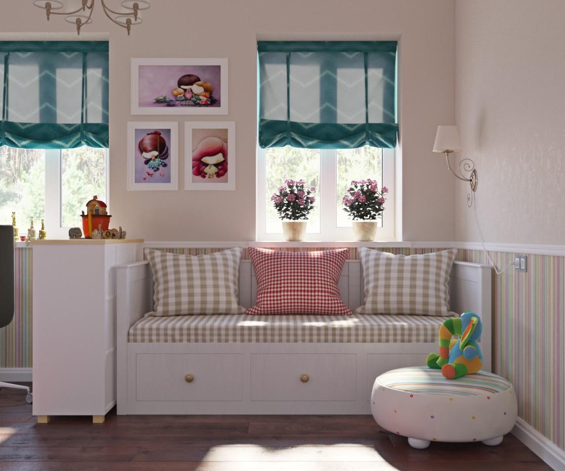 imagen de  Dormitorio para la muchacha  en  3d max   corona render