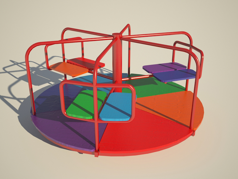Carousel in 3d max vray 3.0 image