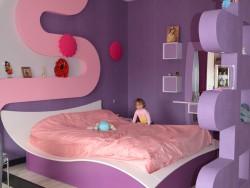 Área de dormir en la habitación de los niños