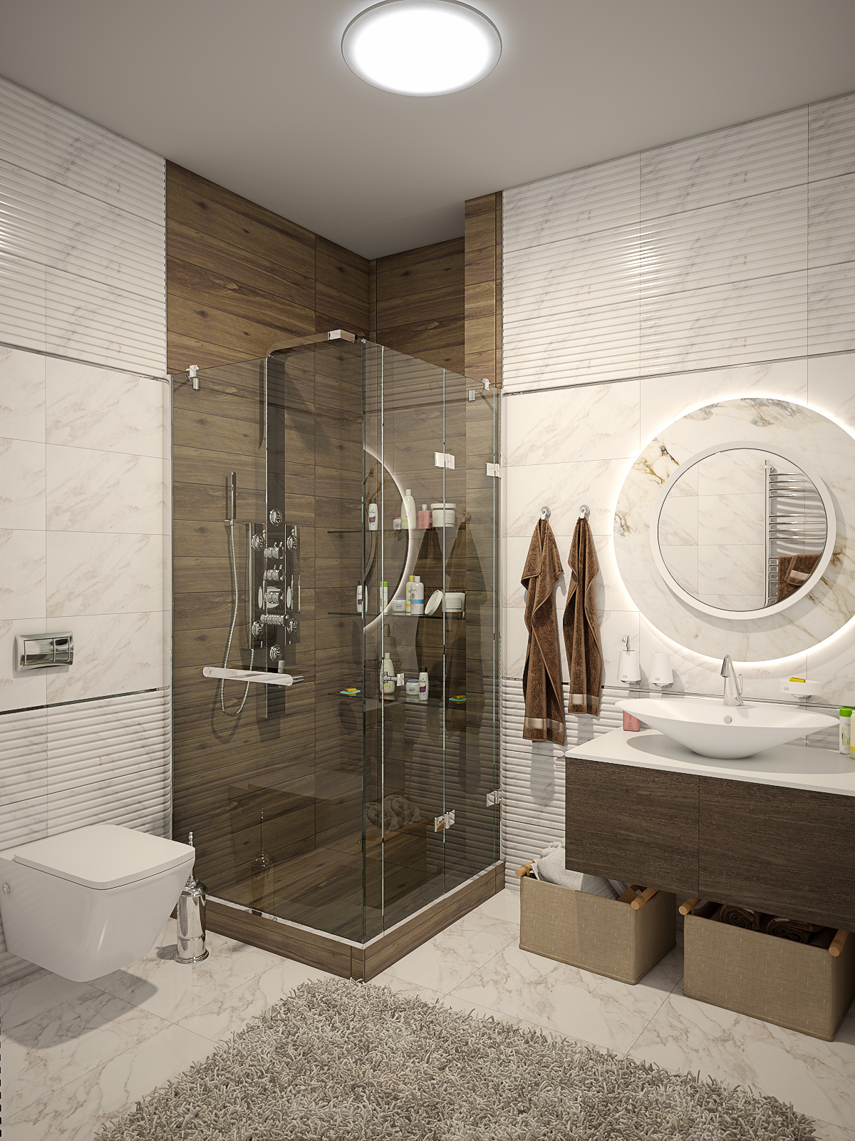 Bathroom design in 3d max vray 3.0 image