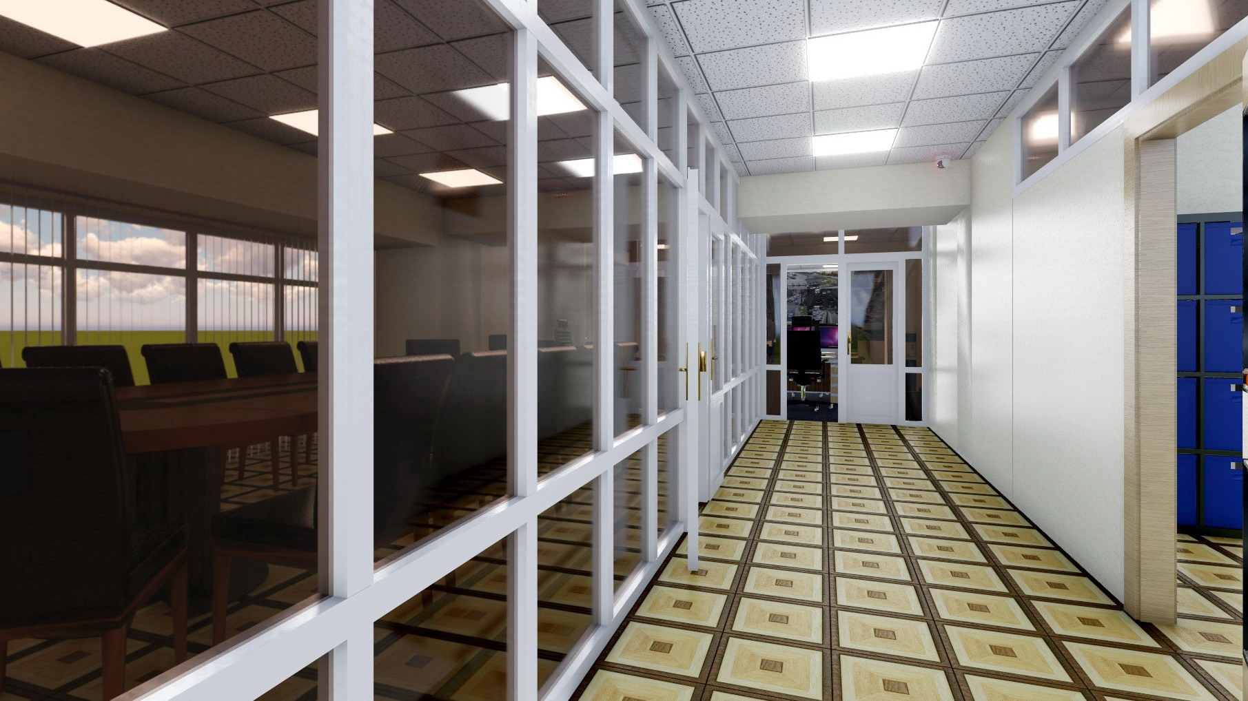 3D Presentation of the processing center, for funding approval. (Video attached) in Cinema 4d Other image