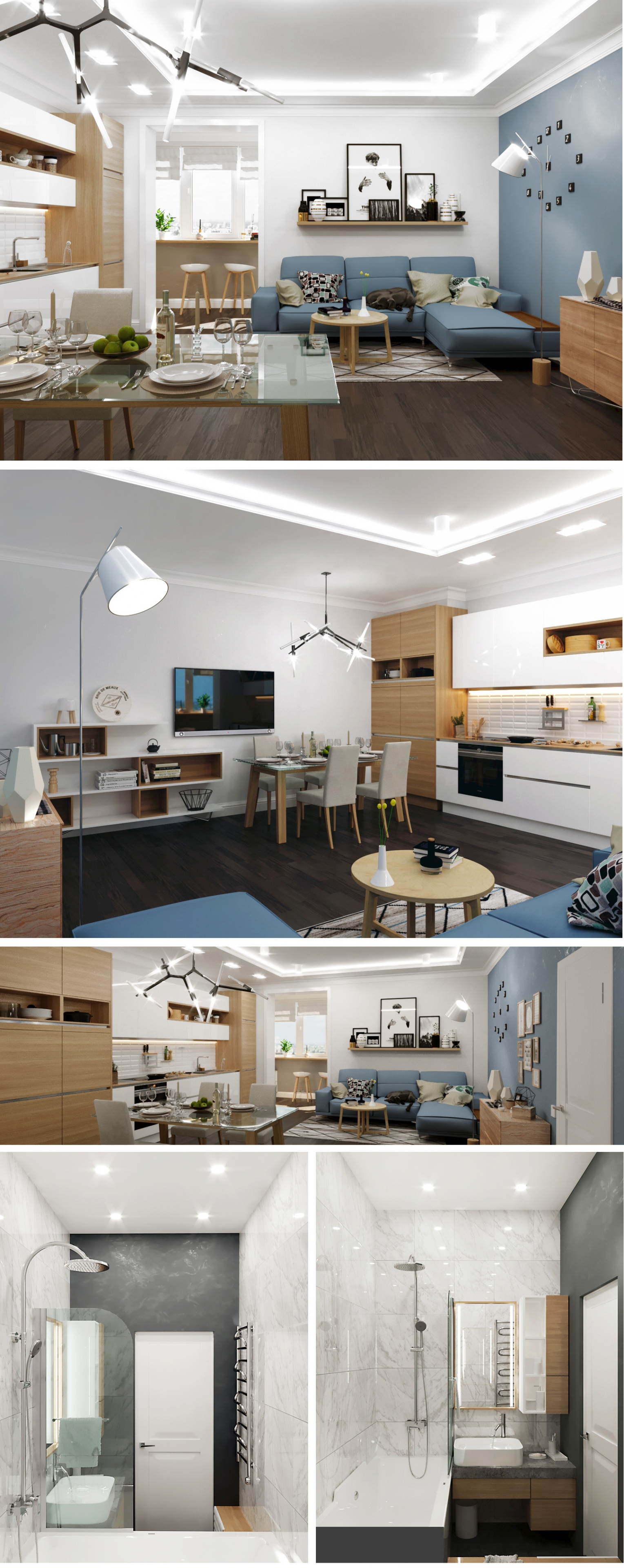 "Apartment ""Northern Spirit"" in 3d max corona render image"