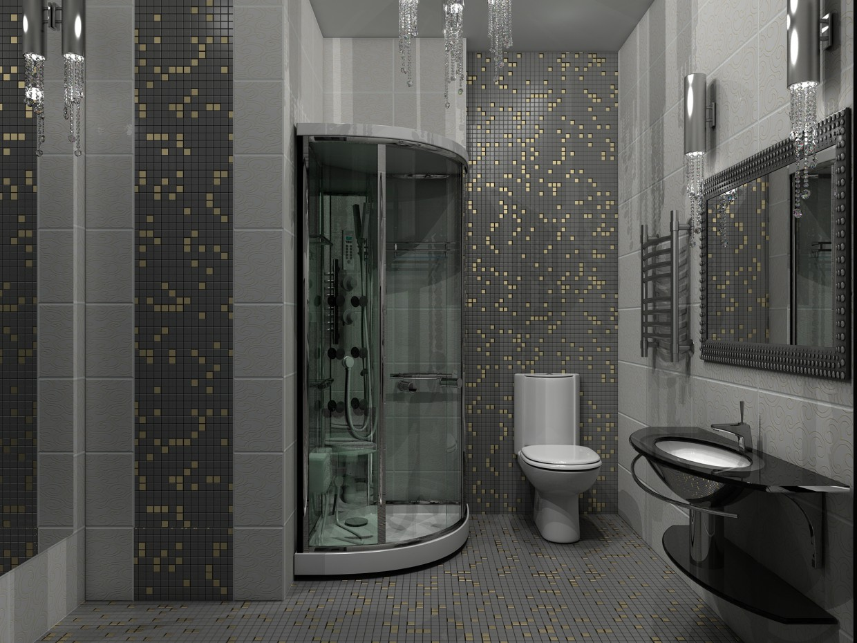 Shower Room in 3d max vray image