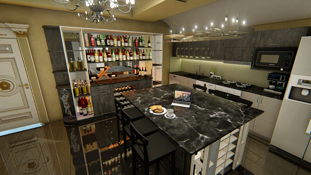 BAR KITCHEN TWO in AutoCAD Other image
