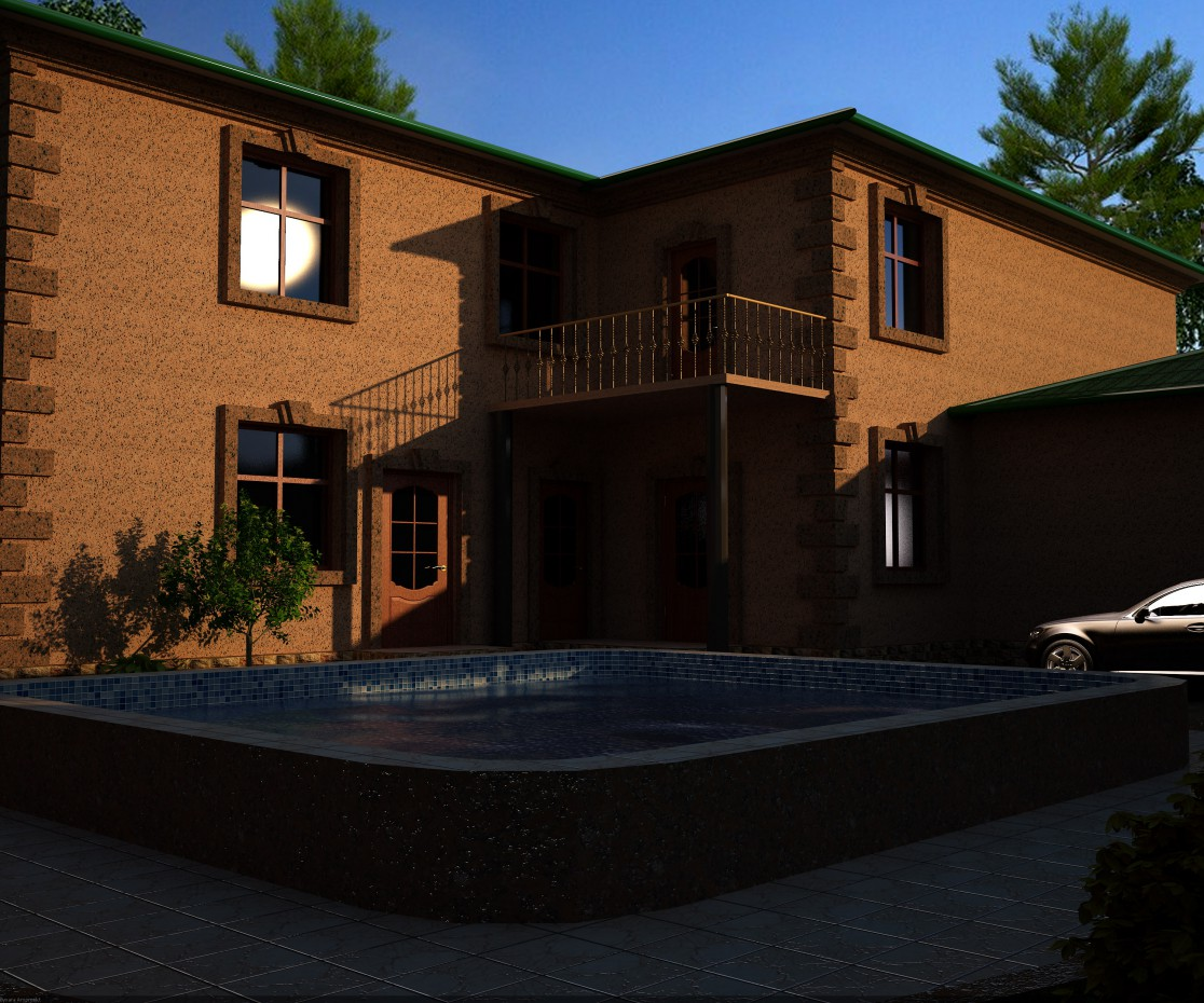Residential land in 3d max vray image