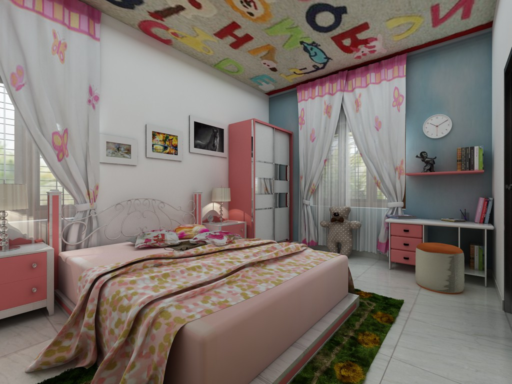 kids room in 3d max vray 2.5 image