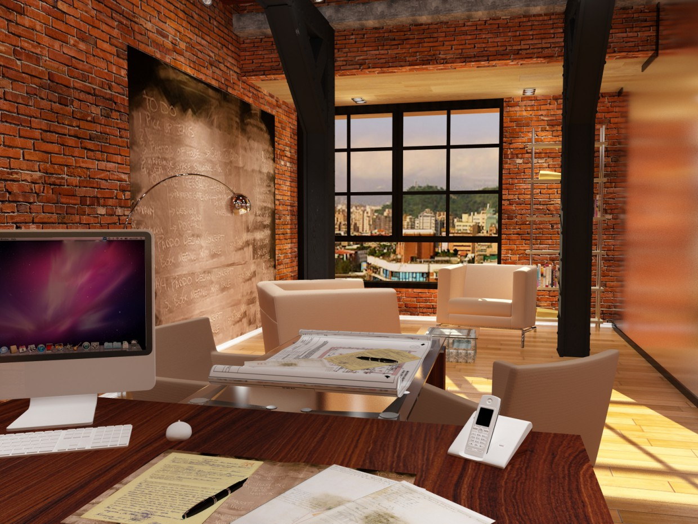 кабинет в 3d max vray изображение