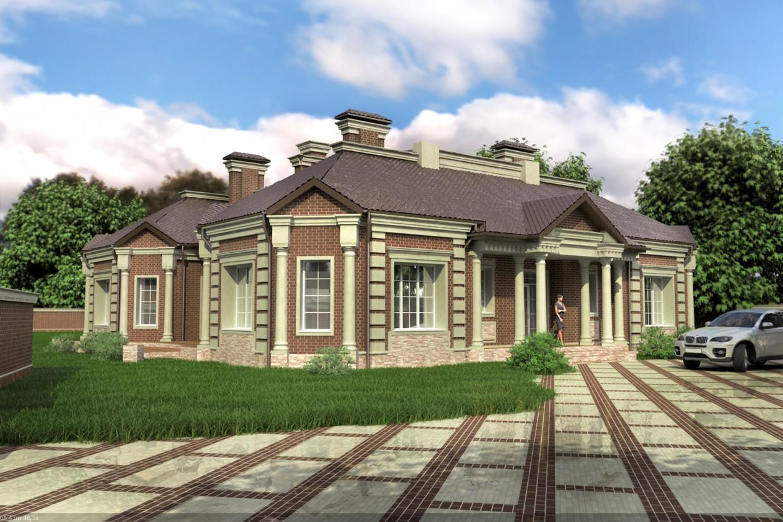 Фасад будинку (затверджений варіант) в 3d max vray зображення
