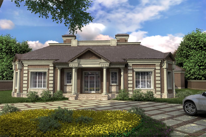 imagen de La fachada de una casa (la versión aprobada) en 3d max vray