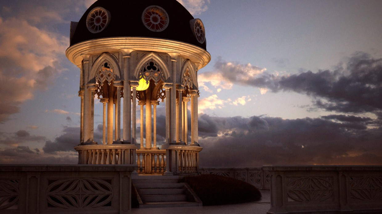 The Rotunda in 3d max vray 3.0 image