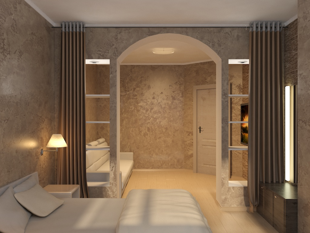 hall-bedroom in 3d max vray 3.0 image