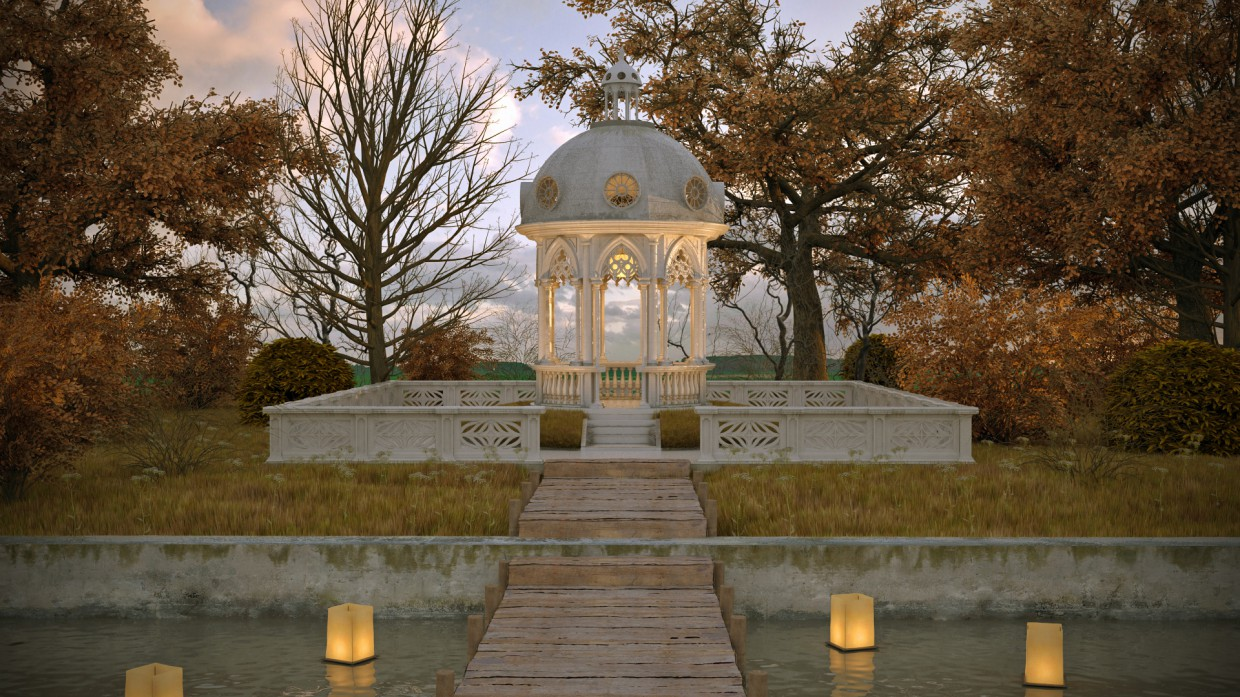 Rotunda. in 3d max vray 3.0 image