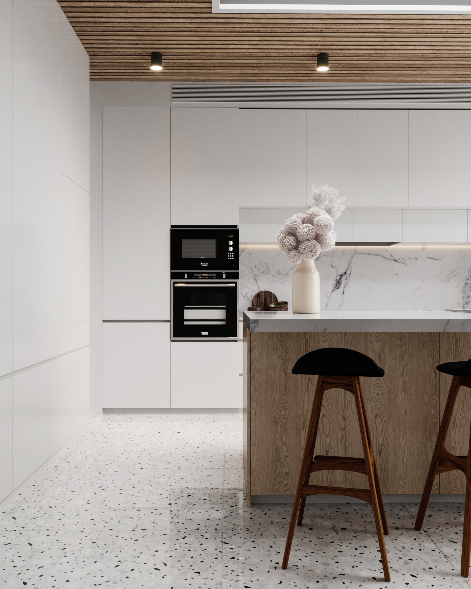 Modern Kitchen in 3d max corona render image