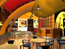 Summer cafe, art deko