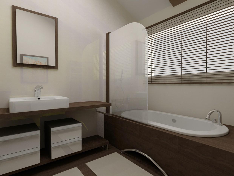Simple bathroom design in 3d max vray image