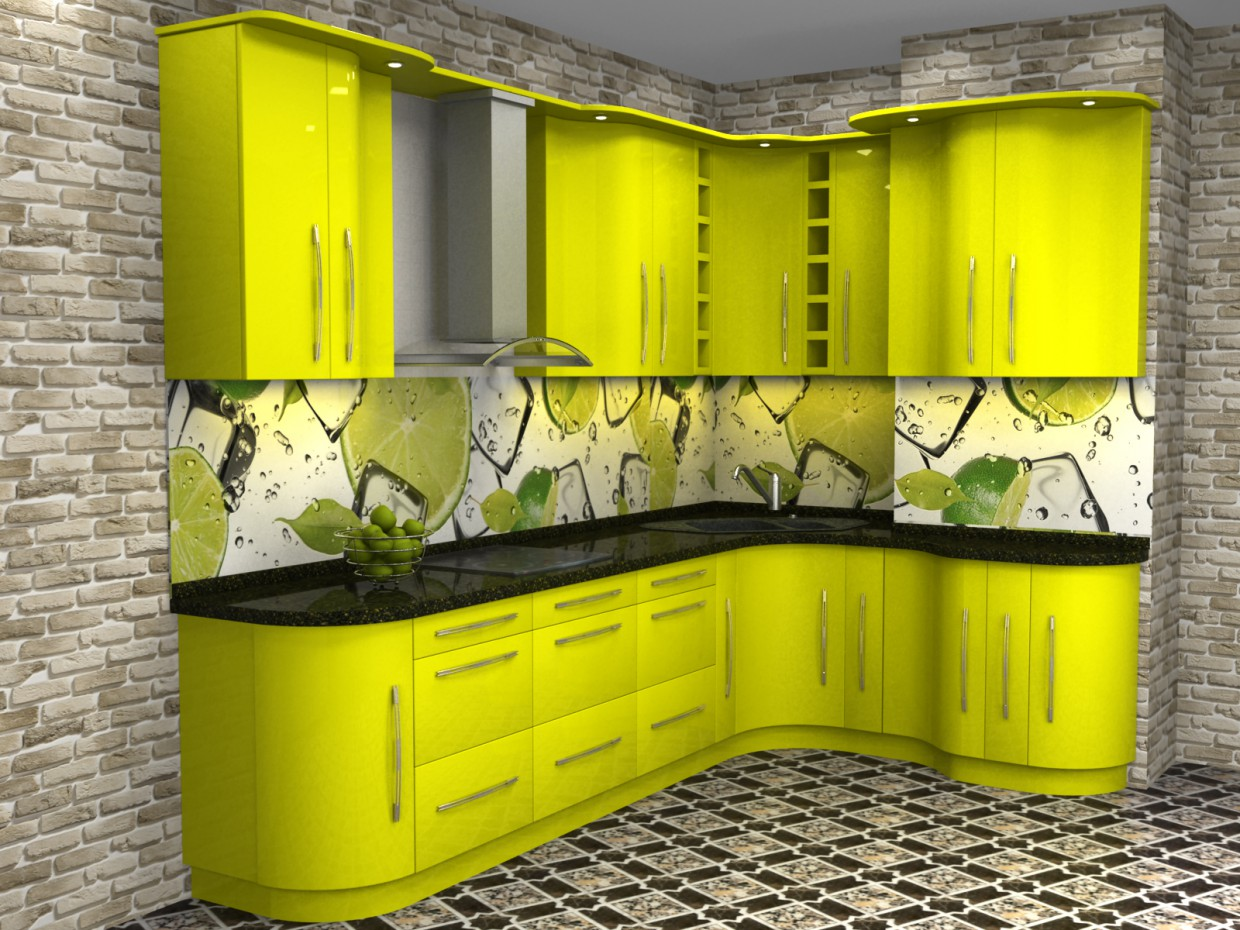 Kitchen Lime in 3d max vray image